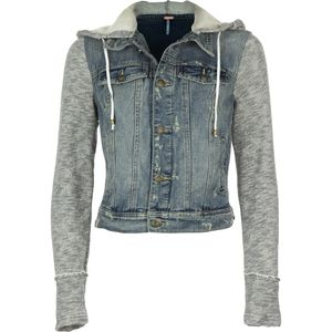 Free People Denim Knit Jacket - Women's