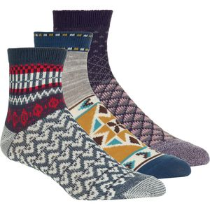 Free People Paradise Cove Ankle Sock - 3-Pack - Women's