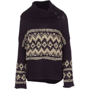 Free People Fairisle Split Neck Sweater - Women's
