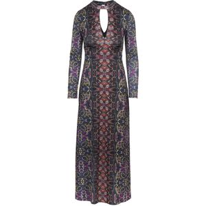 Free People Rayon Interlock Cabaret Maxi Dress - Long-Sleeve - Women's