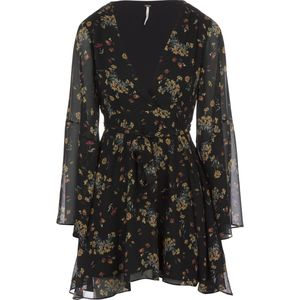 Free People Check Chiffon Lilou Printed Dress - Women's