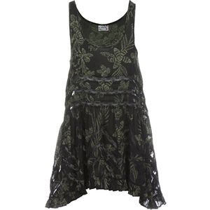Free People Printed Viscose Voile Trapeze Slip Dress - Women's