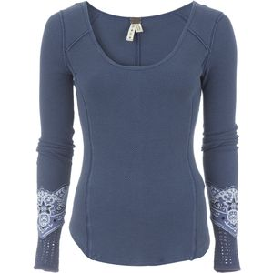 Free People Bandana Cuff Top - Long-Sleeve - Women's