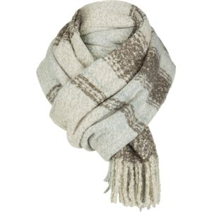 Free People Loveland Plaid Fringe Scarf