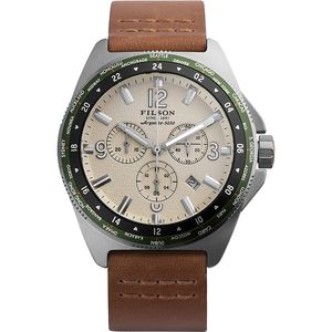 Filson Journeyman Chrono Leather Watch