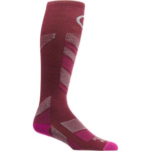 Farm To Feet Waitsfield Lightweight Ski Chevron Knit Sock - Women's