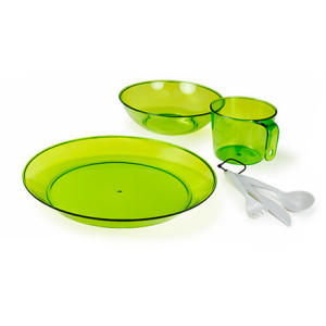 photo: GSI Outdoors Lexan Resin 1 Person Table Set plate/bowl