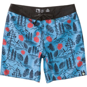 Hippy Tree Paradise Board Short - Men's