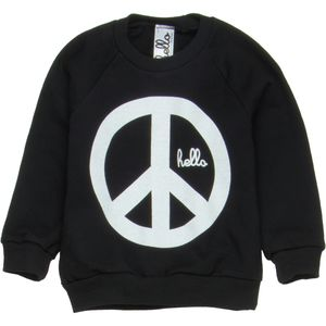 Hello Apparel Peace Raglan Crew Sweatshirt - Toddler Girls'