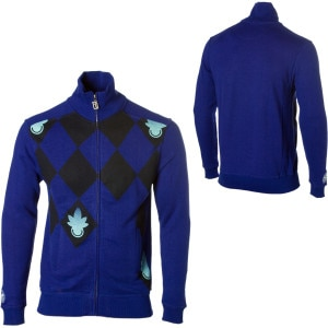 Hemp Hoodlamb Diamond Full-Zip Sweater - Mens