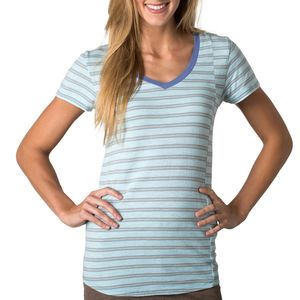 Toad&Co Slubstripe Vee T- Shirt - Short-Sleeve - Women's