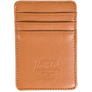 Herschel Supply Raven Leather Card Holder Wallet - Men's