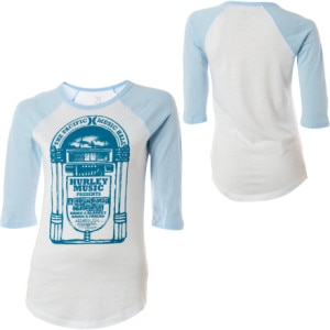 Hurley Jukebox Baseball T-Shirt - 3/4 Sleeve - Womens