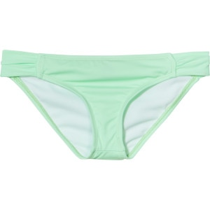 Hurley One & Only Solids Aussie Tab Side Bikini Bottom - Women's