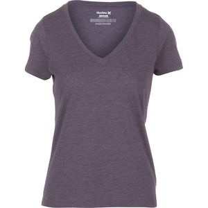 Hurley Solid Perfect V-Neck T-Shirt - Short-Sleeve - Women's