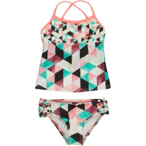 Hurley Prism Tankini & Tab Side Swimsuit - Toddler Girls'