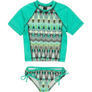 Hurley Phoenix Surf Set Swimsuit - Toddler Girls'