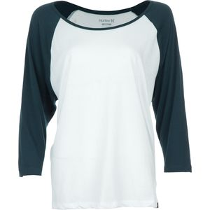 Hurley Solid Slouchy Raglan T-Shirt - Long-Sleeve - Women's
