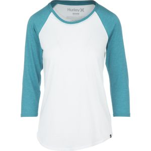 Hurley Solid Perfect Raglan Shirt - 3/4-Sleeve - Women's