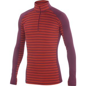Ibex Woolies 2 Zip-Neck Stripe Top - Men's