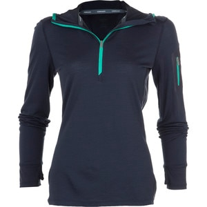 Icebreaker Terra Half-Zip Hooded Shirt - Long-Sleeve - Women's