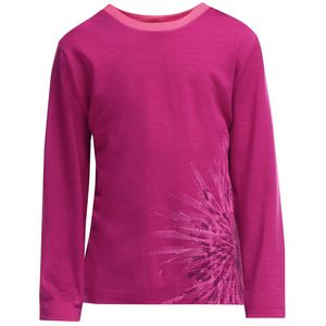 Icebreaker Tech Crewe Chrysanthenum Top - Long-Sleeve - Girls'