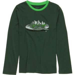 Icebreaker Tech Crewe Alps For Breakfast Top - Long-Sleeve - Boys'