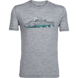 Icebreaker Tech Lite Fin Peaks Crew - Short-Sleeve - Men's