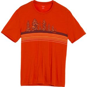 Icebreaker Tech Lite Treeline Crew - Short-Sleeve - Men's