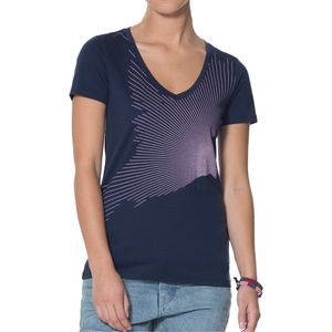 Icebreaker Tech Lite Flock V-Neck Shirt - Women's