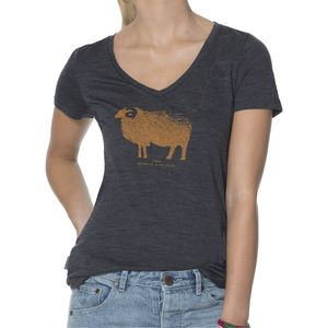 Icebreaker Tech Lite Ram V-Neck Shirt - Short-Sleeve - Women's