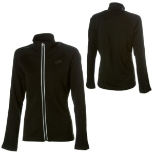 photo: Icebreaker Women's EXP 320 Raven Zip Thru long sleeve performance top