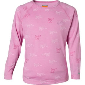 photo: Icebreaker Girls' L/S Crewe Print base layer top