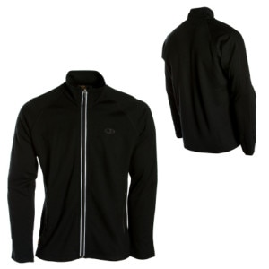 photo: Icebreaker EXP 320 Raven Zip Thru long sleeve performance top