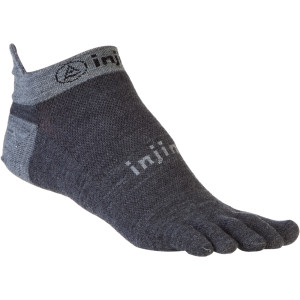 Injinji Run Lightweight NuWool No-Show Toe Socks