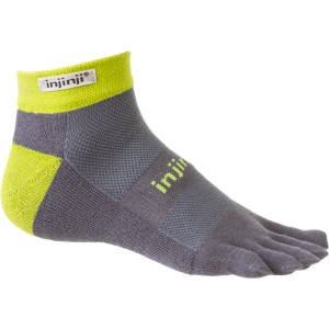 injinji Trail Midweight CoolMax Mini-Crew Toe Sock