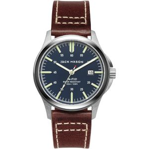Jack Mason F101 Field Collection Leather Watch