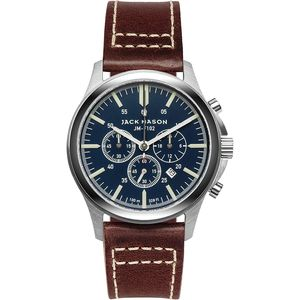 Jack Mason F102 Field Collection Leather Watch