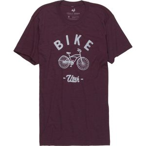 Locally Grown Bike Cruiser Utah Tri-Blend Vintage T-Shirt - Men's