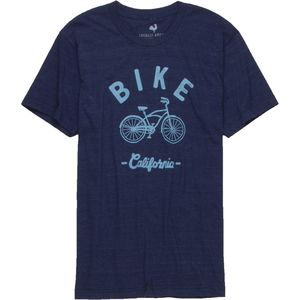 Locally Grown Bike Cruiser California Tri-Blend Vintage T-Shirt - Short-Sleeve - Men's