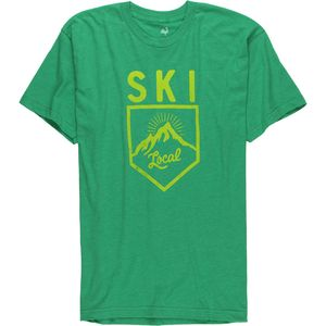 Locally Grown Ski Badge Tri-Blend T-Shirt - Short-Sleeve - Men's