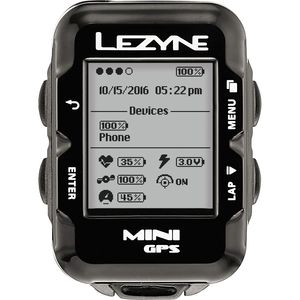 Lezyne Mini GPS HRSC Loaded Bike Computer