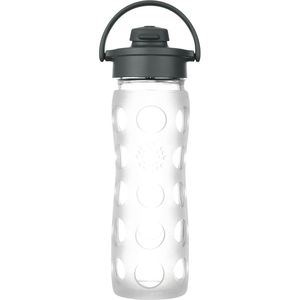 Lifefactory Glass Flip Cap Water Bottle - 16oz