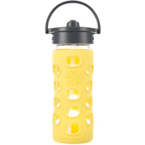 Lifefactory Glass Straw Cap Water Bottle - 12oz