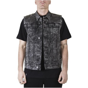 LRG Acidic Sleevless Denim Jacket - Men's