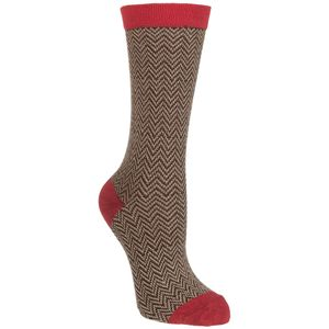 Little River Sock Mill Textured Herringbone Crew Sock - Women's