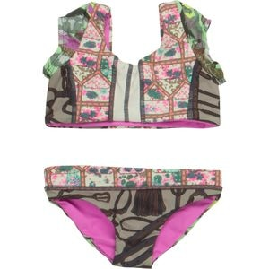 Maaji Floral Surfer Reversible Swimsuit - Toddler Girls'