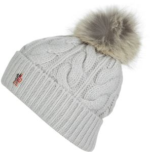 Moncler Berretto Cable Knit Pom Beanie - Women's