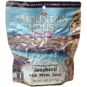 Mountain House Spaghetti with Meat Sauce - 1 Serving Entree