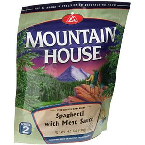 Mountain House Spaghetti with Meat Sauce - 2 Serving Entree